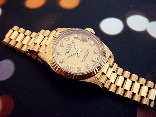 Đồng Hồ Nam Nữ Cao Cấp Rolex Datejust Automatic Full Gold