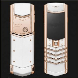 Điện thoại Vertu Signature White Red Gold Diamond VT26