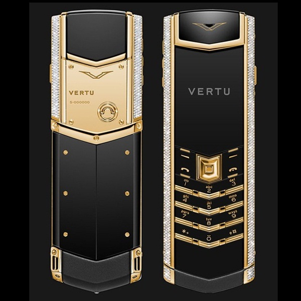 Điện thoại Vertu Signature S Yellow Gold Full Pave Baguette Diamonds VT39