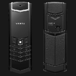 Điện thoại Vertu Signature S Diamond Trim Select Keys Black Leather VT45